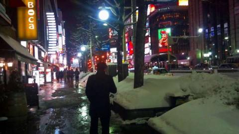 札幌夜の街